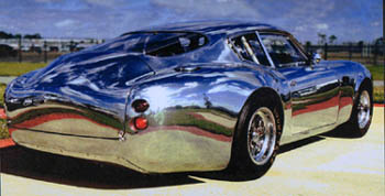 An aluminum bodied Aston Martin recreation